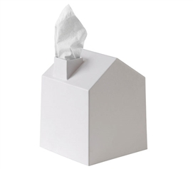 Tissue Box House - White