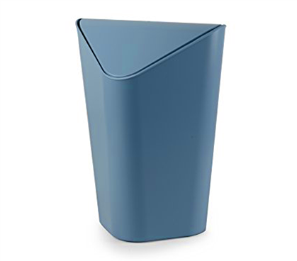 Corner Trash Can - Mist Blue