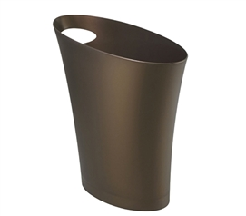 Skinny Trash Can - Bronze