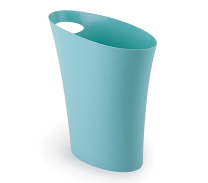 Skinny Trash Can - Blue