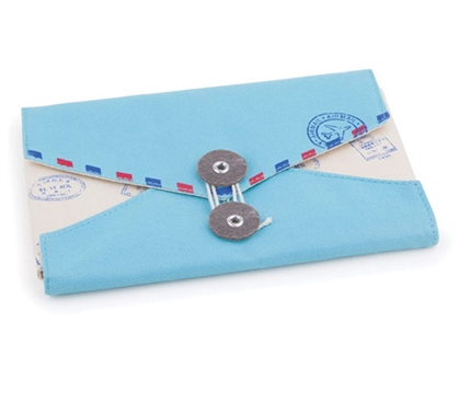 Envelope Jewelry and Cosmetic Dorm Organizer - Blue