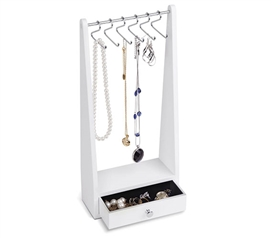 White Jewelry Rack Stand