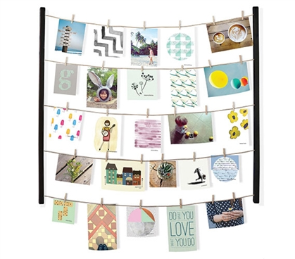 Clothesline Photo Display - Black