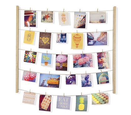 Clothesline Photo Display - Natural