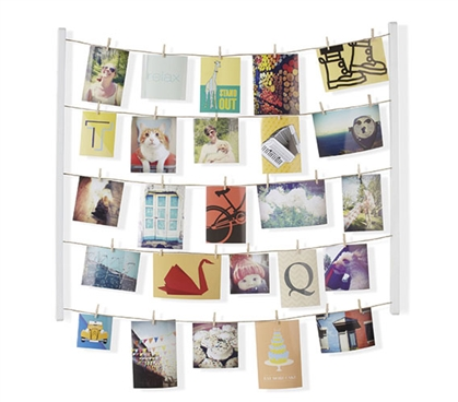 Clothesline Photo Display - White