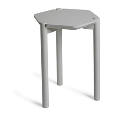 Hexagon Bedside Table - Gray Dorm Necessities College Supplies