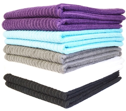 Super-Dry USA Cotton Bath Towel (2-Pack) Dorm Essentials College Supplies