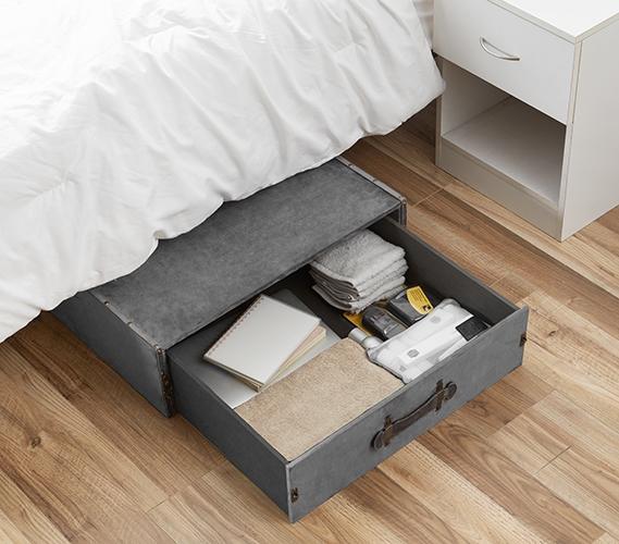Ultimate Underbed Drawer Trunk Dorm