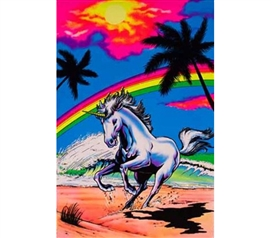 College Essentials - Rainbow Gallop Blacklight Poster - Decorate Your Dorm