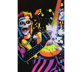 Buy Cheap Posters - Rockin Skull Blacklight Poster - Decorate Your Dorm