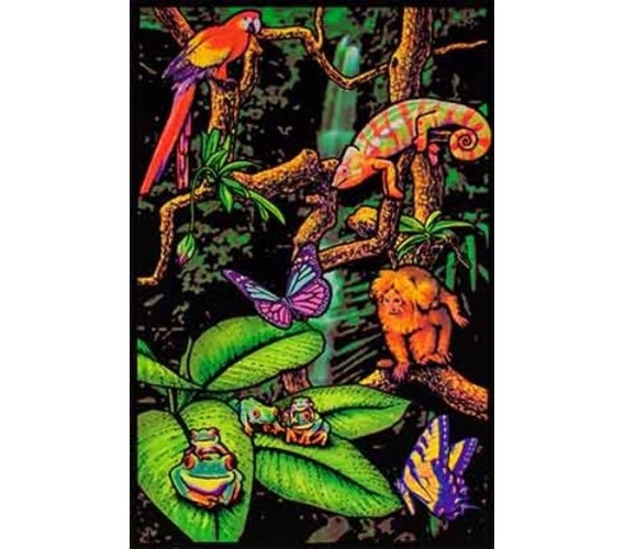 Rainforest Blacklight Poster Items For College Best Dorm Stuff Cheap