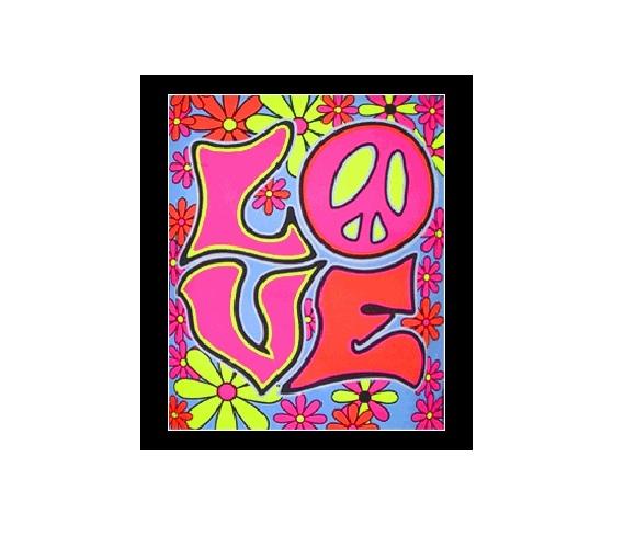 Love Blacklight Wall Tapestry Part 93