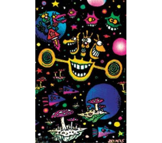 Space Craze Blacklight Poster Decorate Your Dorm Cheap Items For College
