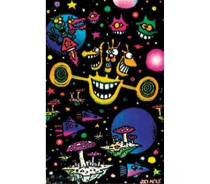 Essentials For College - Space Craze Blacklight Poster - Decor For Dorms