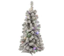 "3'x20"" Kodiak Mini Tree with Italian Mini Lights Holiday Decorations Dorm Room Decor"