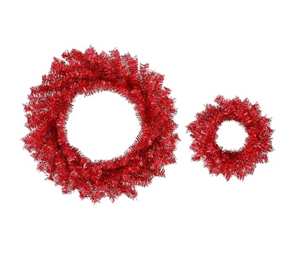 "Holiday Dorm Room Decorations 10""/18"" Red Wreath Set Must Have Dorm Items"