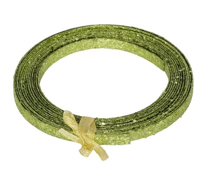 Holiday Dorm Room Decorations 23' Lime Green Glitter Ribbon