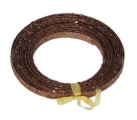 Holiday Dorm Room Decorations 23' Chocolate Glitter Ribbon