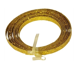 Cool Dorm Room Ideas 23' Gold Glitter Ribbon for Gift Wrapping and Dorm Room Decorating