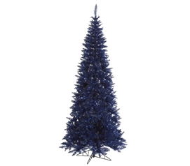 "Holiday Dorm Room Decorations 4.5'x24"" Navy Blue Slim Fir Tree"
