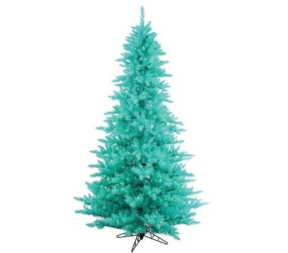 3x25 aqua fir tree with mini lights