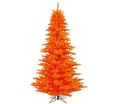 "Holiday Dorm Room Decorations 3'x25"" Orange Fir Tree with Mini Lights"