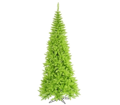 "Holiday Dorm Room Decor 4.5'x24"" Lime Green Slim Fir Tree"