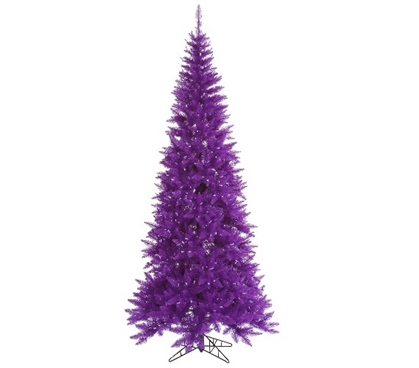 "Holiday Decorations 4.5'x24"" Purple Slim Fir Christmas Tree"