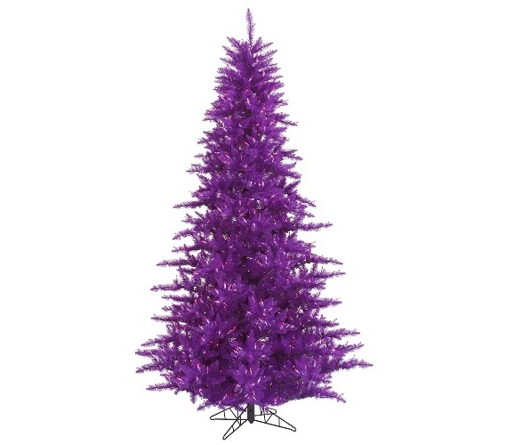 3 X25 Purple Fir Tree With Mini Lights