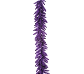 "Holiday Dorm Room Decorations 9'x14"" Purple Garland with Purple Mini Dorm Lights on Purple Wire"