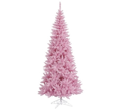 "Holiday Dorm Room Decorating Ideas 4.5'x24"" Pink Slim Fir Tree"
