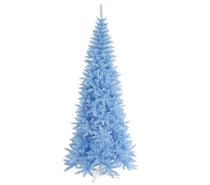 "Holiday Dorm Room Decorations 4.5'x24"" Sky Blue Slim Fir Tree"