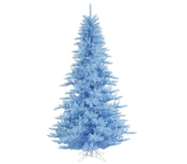 "Holiday Dorm Room Decorations 3'x25"" Sky Blue Fir Tree with Sky Blue Mini Lights on Sky Blue Wire"