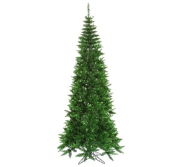 "Holiday Dorm Room Decorations 4.5'x24"" Tinsel Green Slim Fir Tree"
