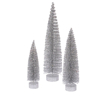 Silver  Glitter Oval Tree Set Must Have Dorm Items