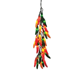 Chili Pepper Bunch - Hanging Lights Set Must Have Dorm Items