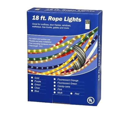 Dorm Necessities 18' Clear Rope Light Dorm Room Decorations