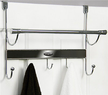 5-Hook Over The Door Hanger & Towel Bar