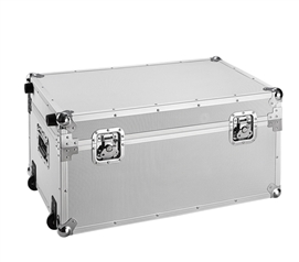 VIN Armored Trunks - Rouge Destination (Gray) Dorm Storage Solutions Dorm Trunk with Wheels