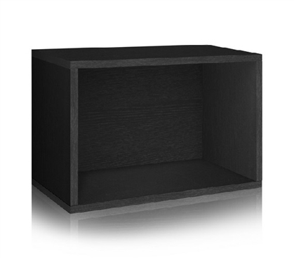 College Storage Rectangle Black - Way Basics Dorm Storage Solutions