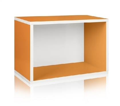 Dorm Storage Rectangle Orange - Way Basics Dorm Storage Solutions