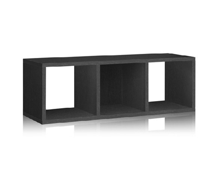 College Supplies 3 Cube Dorm Storage Bench Black - Way Basics Dorm Room Decor