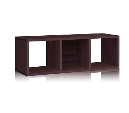 3 Cube Dorm Storage Bench Espresso - Way Basics Dorm Room Storage College Supplies