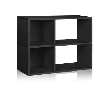 2 Shelf Dorm Storage Bookcase Black - Way Basics Dorm Storage Solutions Must Have Dorm Items