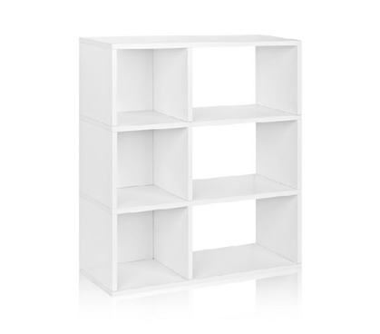 3 Shelf Dorm Storage Bookcase White - Way Basics Dorm Storage Solutions