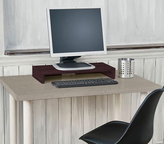 Desktop Monitor Stand Espresso Dorm Room Supplies Dorm Room