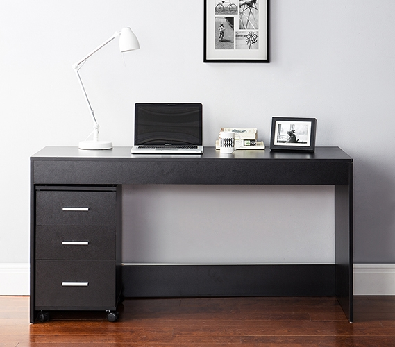 About It Simple Style Work Desk Black