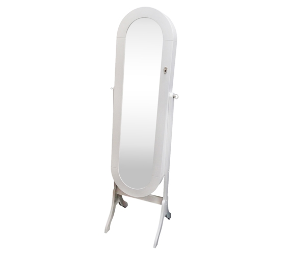 CollegeAve FullLength Mirror Jewelry Stand Classic White Oval