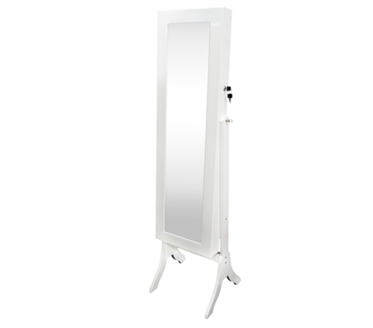 College-Ave Full-Length Mirror Jewelry Stand - White Rectangle Cool Dorm Necessities