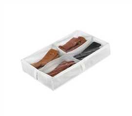 Underbed White Boot Storage Bag